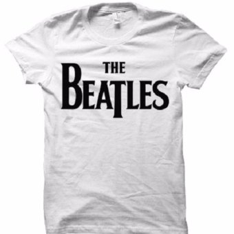 All About Rock The Beatles Classic Logo Band T-Shirt (White)