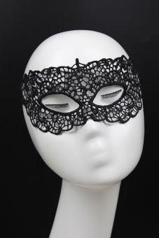 Amango Eye Mask Lace Venetian Masquerade Ball Black - picture 2
