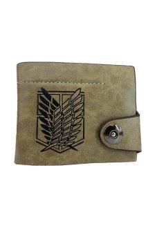Attack on Titan Scouting Legion Recon Corps Logo Wallet Purse (Brown)