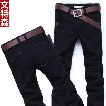 Autumn New style men's business casual pants trousers (Black 809)