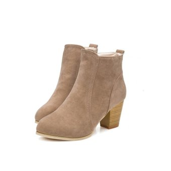 Autumn Winter Boots With High Heels Boots Shoes Martin Boots WomenAnkle - intl