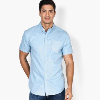 Baleno Mens Patterned Casual Shirt (Blue)
