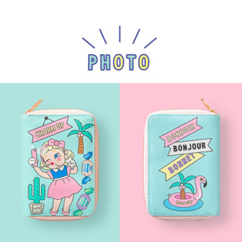 Bentoy cute girl's multi-compartmental short wallet (New Bang short wallet-mint photo)