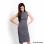 Blacksheep Ribbed Sleeveless Turtle Neck Dress (Dark Gray)