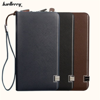 Business Men Wallets Men Purse Clutch Bag Brand Leather Long Wallet Design Hand Bags For Men phone Purse - intl
