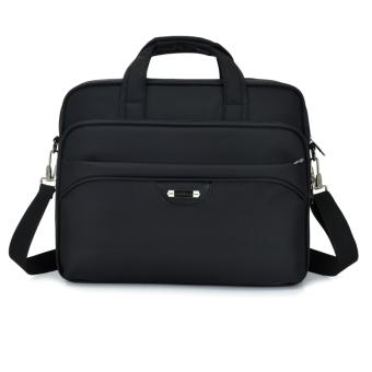 Business Travel messenger bag men's shoulder bag (Black)