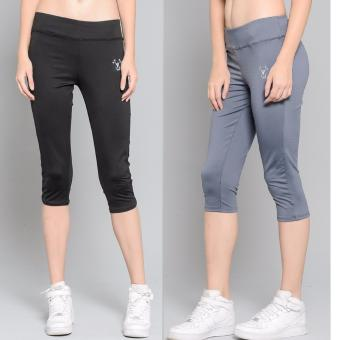 BUY 1 TAKE 1 Outperformer Casual Capri Pants with 3D Extra Stretchand Dry Max Technology (Ebony and Military Grey)