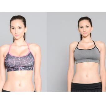 BUY 1 TAKE 1 Outperformer Reversible Sports Bra with DryperformTechnology (Flamingo Pink and Grey)