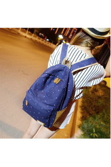 Canvas Dot Backpack (Dark Blue) - picture 2