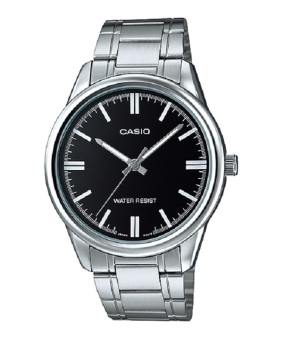 Casio Men's Silver Stainless Steel Strap Watch MTP-V005D-1A