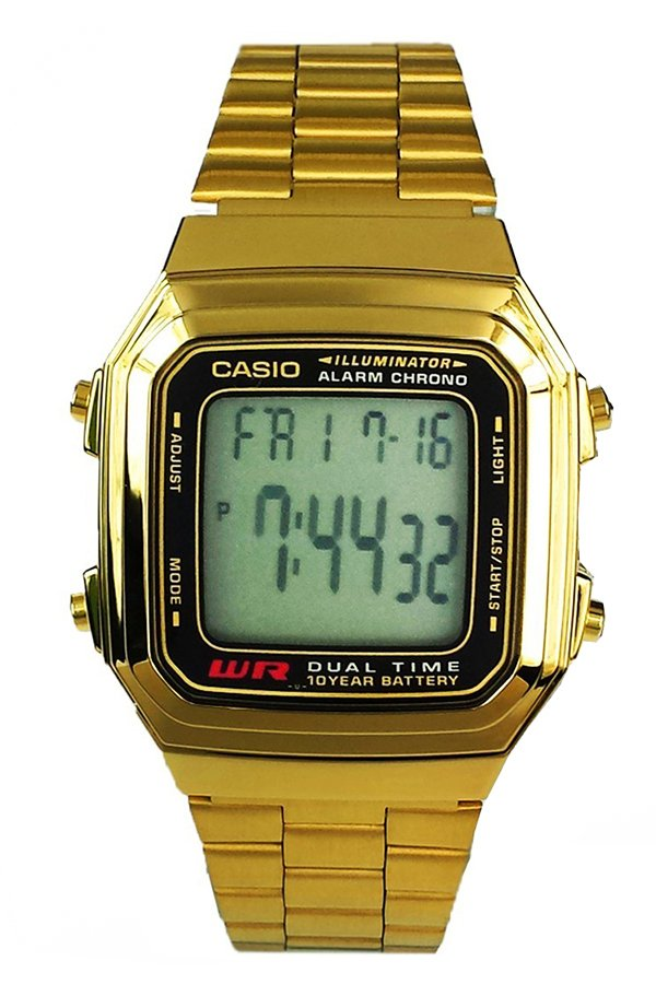 casio mens gold stainless steel strap watch a178wga 1adf lazada ph