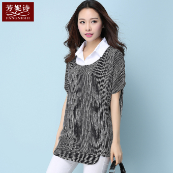 Chiffon summer short-sleeved blouses T-shirt