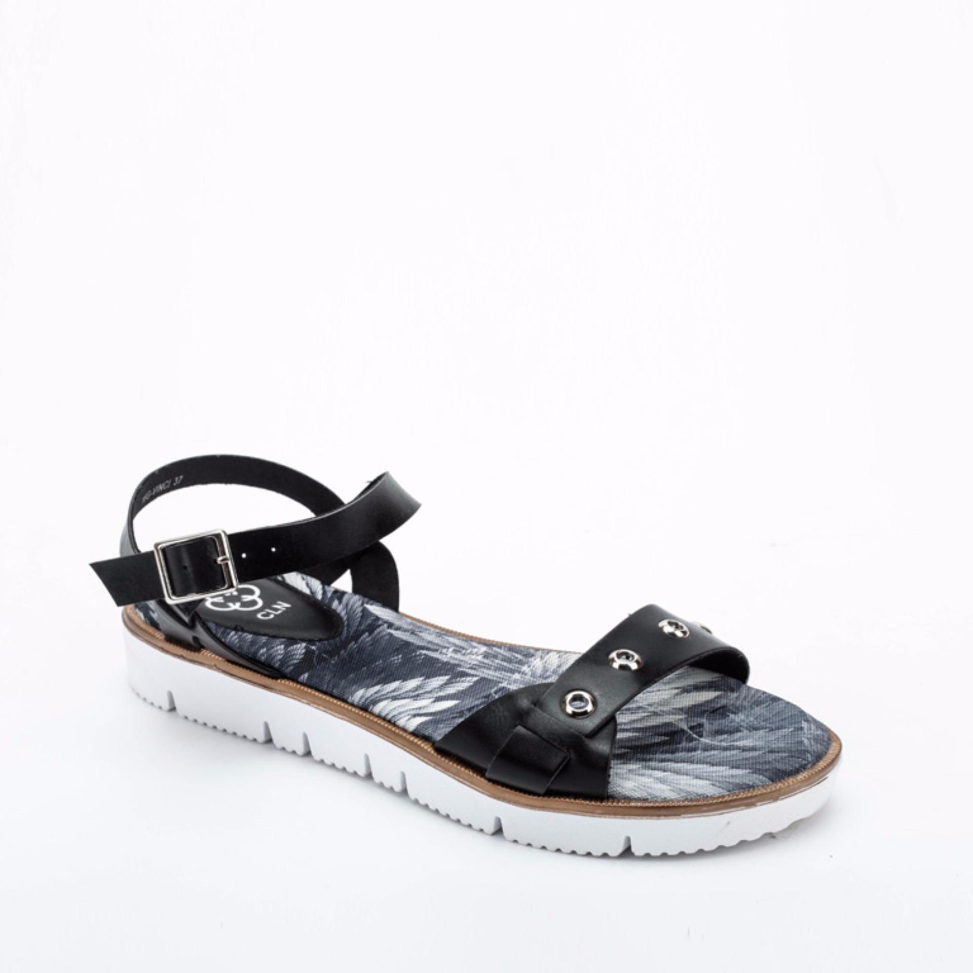 Cln shoes sandals philippines - Cln 16g Vinci Uniband Sandals With Angel Wings Design Black Lazada Ph