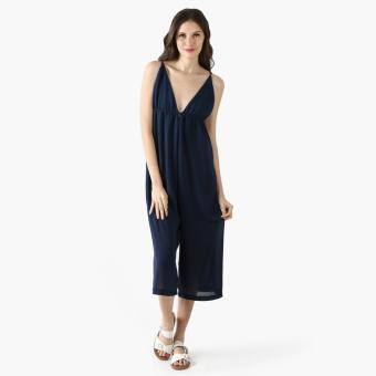 Coco Cabana Cami Jumpsuit (Navy Blue)