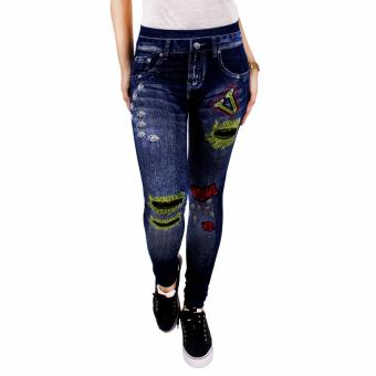 Cotton Republic Modern Fashionable Printed Jeggings - Brianna(Denim)