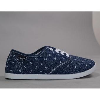 Crissa Steps Dottie Laced-up Shoes (Navy Blue)