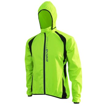 Cycling Long Sleeve Windproof Waterproof Rain Jacket Mountain Bike Running Bicycle Breathable Sports Clothing For Men(Green)