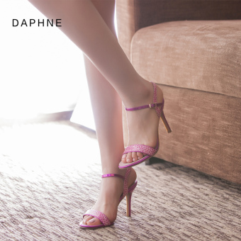 Daphne fashion spring and summer high-heeled word buckle sandals