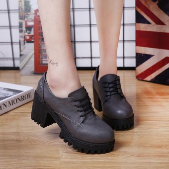 England Spring and Autumn New style zip thick with shoes (Light gray color)