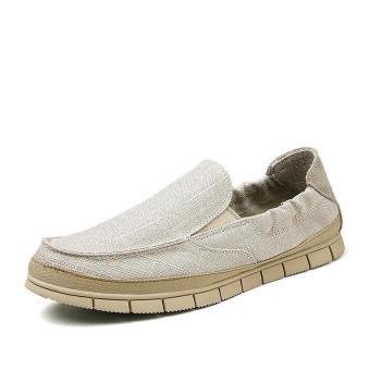 Fashion Flaxt Men Low Cut Loafers - Beige