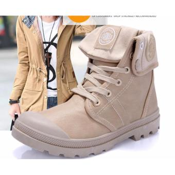 Fashion Women Wedge Hidden Heel Artificial Suede Sport Shoes Boot Round Toe Sneakers - intl