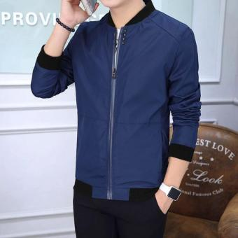 Fashionista MEN | Bomber Jacket Small to Plus Size (Navy BLue)