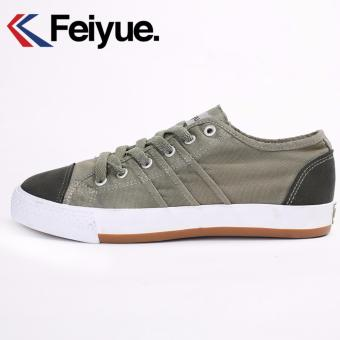 Feiyue Joker Low Canvas Shoes (Army Green) - intl