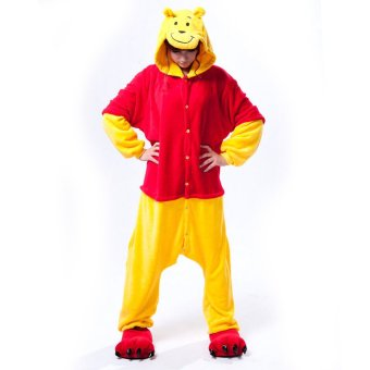 GETEK Winnie the Pooh Adult Unisex Pajamas Cosplay Costume OnesieSleepwear S-XL (Yellow) - Intl