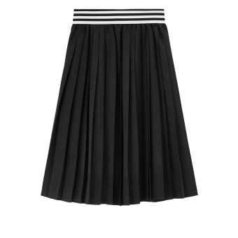 Giordano word slimming pleated skirt (09 logo black) (09 logo black)