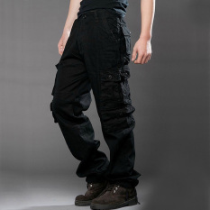 black cargo work pants for men - Pi Pants