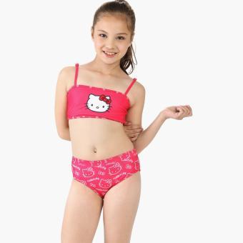 hello kitty girls two piece bikini swimsuit pink