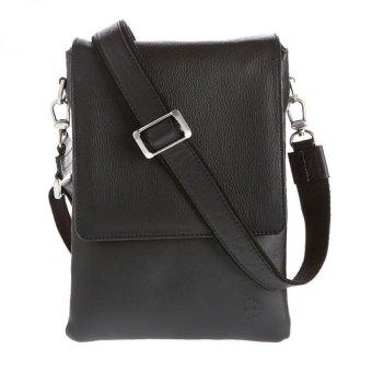 Hickok 39385 Genuine Leather Shoulder Bag (Black)