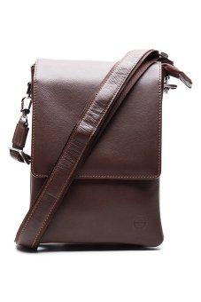 Hickok 39386 Genuine Leather Shoulder Bag (Brown)