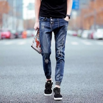 Hole Denim Jeans Men 2017 New Fashion Ripped Jeans for Men LeisureMen Jeans Trousers - intl