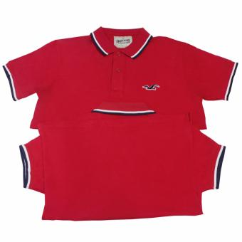 Hollister Couple Polo Shirt(Red)