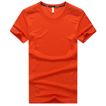 I summer large short sleeved t-shirt (Orange)