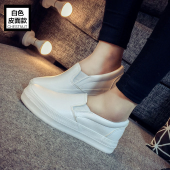 InsHan version autumn super fire cloth shoes white sail cloth shoes (White-leather Models)