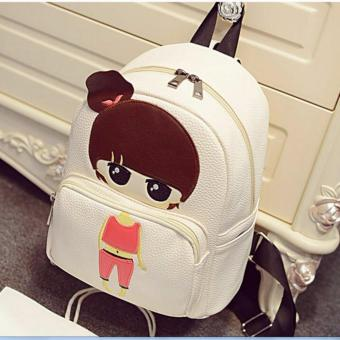 Isabel K047 Trendy Korean Girl Backpack (Neutral)