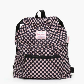 Jellybeans Ladies Polka Dot Backpack (Pink)