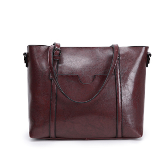 Jianyue women's large capacity handbag large bag (Deep wine red [Collection product to send clutch bag card holder])