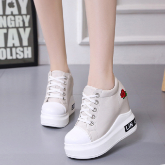 Korean-style autumn New style platform shoes female shoes (Off-white color)
