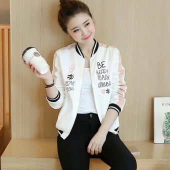 Korean-style female New style stand-up collar jacket autumn jacket