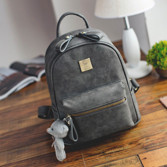 Korean-style matte leather New style women's bag (Gray)