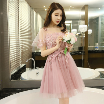 Korean style New style winter slimming bridesmaid dress (769 models shoulder)
