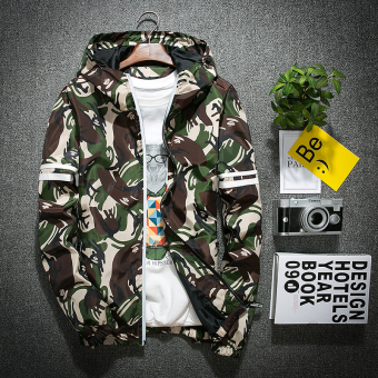 Korean-style Teenager boy spring and autumn coat (Dark green color)
