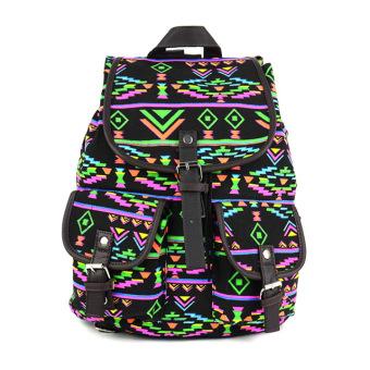 Korean Stylish Backpack (Black) - picture 2
