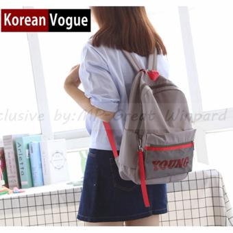 KOREAN VOGUE KV7003 Young Style Women Backpack Ladies Bag (Grey)