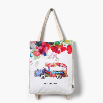 kultura floral manila jeep dual purpose bag lazada ph. Black Bedroom Furniture Sets. Home Design Ideas