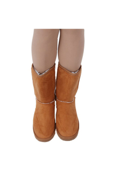 LALANG Chic Ladies Womens Rubber Sole Snow Ankle Boots Winter Warm Flat Casual Shoes - Camel