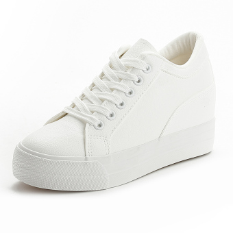 Leather black white autumn and winter New style BayMini shoes (White)